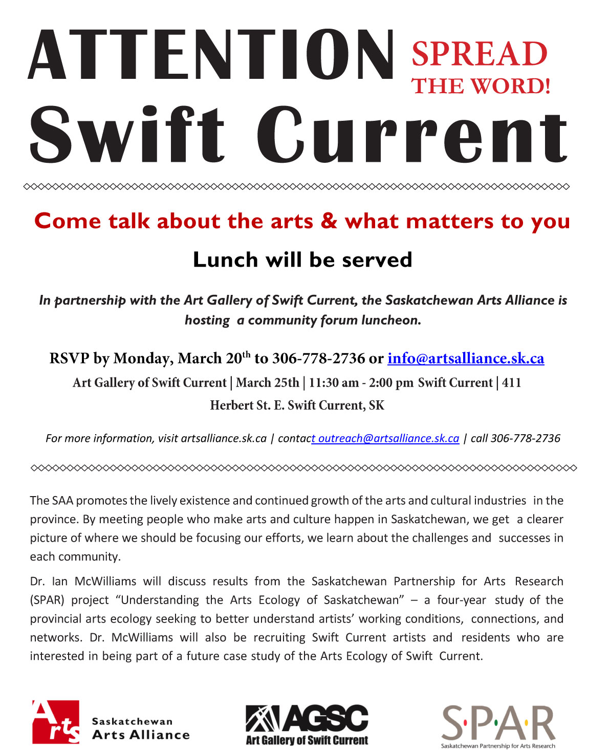 Swift Current Meeting Poster